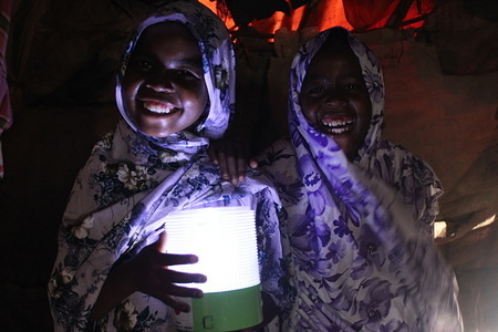IOM with support from Panasonic, in partnership with local non-governmental organizations, is distributing solar lanterns and 'dignity kits' to internally displaced persons (IDPs) in settlements across Somalia in order to contribute to the protection of vulnerable women and girls from gender-based violence (GBV). © IOM 2012 (Photos: Deeq M. Afrika)