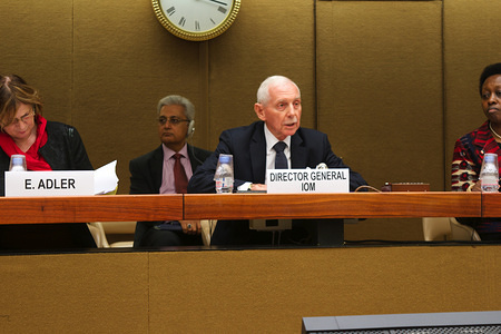 IOM's Conference on Migrants and Cities (CMC) bring together ministers, high-level government officials, mayors and other local authorities, the private sector and civil society organizations to discuss the complex dynamics of human mobility in cities and assess how challenges can be managed and development opportunities maximized. Held on 26 and 27 October 2015 in Palais des Nations, Geneva.