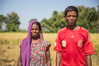 Badnau Urau, 53,  is a farmer in Udaipur region. He has been working planting rice for the last 35 years. His wife works with him in the field. Despite on the changes of rain patterns, their crop is doing well due to fertilisers. He rents the land for planting the rice, 50% of the production is given to the owner of the land. Udayapur, Nepal, is one of the regions in the country vulnerable to the impacts of climate change. Several families have lost their houses and livelihoods due flooding. They also face difficulties with their plantations because of changes on rain patterns.