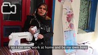 Wahde is one of 300 Syrians who are starting up a small business in Turkey with the help of IOM's unique in-kind grants project.   The programme distributes professional toolkits to Syrians to provide a steady income, increasing their resilience and decreasing their dependence on humanitarian aid.