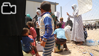 Displaced Iraqis from arriving from West Mosul arrive to Hammam Al-Alil town, south east of the city, go through the Hammam Al-Alil transition center where go through screening, and then transported in buses to other areas to provide shelter for them. Some would be sent to camps around Mosul that has room for IDPs, others would be transported to East Mosul that had been liberated and where the IDPs had relatives they could stay with.