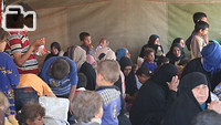 Displaced Iraqis from West Mosul arrive in Hammam Al-Alil town, south east of the city. Hammam Al-Alil became a transition hub for IDPs in recent months as the Iraqi forces pushed deeper into the West Mosul. The IDPs arrived in buses, went through screening, and then transported in buses to other areas to provide shelter for them. Some would be sent to camps around Mosul that has room for IDPs, others would be transported to East Mosul that had been liberated and where the IDPs had relatives they could stay with.