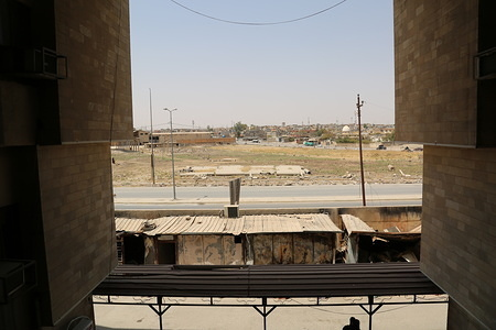 The general hospital in West Mosul that was partially damaged. Currently it is the only general hospital in West Mosul that is still functioning.