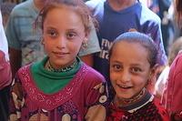 two displaced girls at Haj Ali