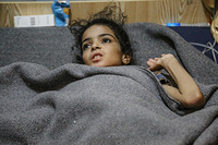 """10-year old Amira spoke robotically of her last days, in West Mosul's old city, recounting an ordeal more akin to a horror movie than something any child has to go through.   """"ISIL lobbed a mortar on our house. My father was trying to escape with my sisters and younger brother, while mother and I were still behind following.   """"Smoke engulfed the house, I could not see anything. Mama was dead lying on the floor. I thought she was alive… I kept on calling out for her, shouting for her to help me, but she never answered me. I too had fallen to the ground, one of my legs was injured and the other fractured, I could not move.   """"I stayed for three days alone in the house calling on my mother, calling to my father, but no one came. I had no food or water… Mama… I kept on calling, but no answer…  I didn't know she was dead until they rescued me."""""""