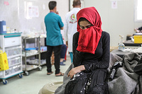 Farah, 11-year-old sister of Raghad, who was shot by an ISIL sniper in West Mosul. Raghad died on arrival to Hammam al-Alil field hospital.