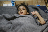 "10-year old Amira spoke robotically of her last days, in West Mosul's old city, recounting an ordeal more akin to a horror movie than something any child has to go through.   ""ISIL lobbed a mortar on our house. My father was trying to escape with my sisters and younger brother, while mother and I were still behind following.   ""Smoke engulfed the house, I could not see anything. Mama was dead lying on the floor. I thought she was alive… I kept on calling out for her, shouting for her to help me, but she never answered me. I too had fallen to the ground, one of my legs was injured and the other fractured, I could not move.   ""I stayed for three days alone in the house calling on my mother, calling to my father, but no one came. I had no food or water… Mama… I kept on calling, but no answer…  I didn't know she was dead until they rescued me."""