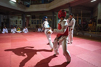 """Osman began training in Taekwondo as a child in Afghanistan, inspired by the example of two-time Olympic bronze medalist Rohullah Nikpai, who is an ethnic Hazara like himself.  """"It is not easy being a Hazara in Afghanistan; we are often discriminated against by other ethnic groups and the Taliban who do not see us as 'real' Afghans,"""" he says. """"When I saw Rohullah at the Olympics I felt that anything was possible if I tried hard enough.""""  Over the years he graduated his way up to black belt and won a local competition. Later the Taliban discovered Osman's identity and threatened to kill him, forcing him to flee to Indonesia.  Today he is a refugee who's been waiting to be resettled for many years, but uses his time in South Sulawesi, to train the local community in the sport he loves."""