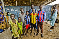 Reath, separated child, to the far left, with his friends. They are part of the 44 registered refugees awaiting the three-day convoy transport from Pagak Reception Center in Gambella Region to Gure-Shembola Refugee Camp in Assosa Region.