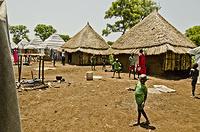 Transitional shelter at Nguenyyiel Refugee Camp.