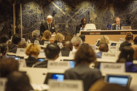 Several member states and other representatives attend the 108th session of the IOM Council in Geneva, Switzerland.