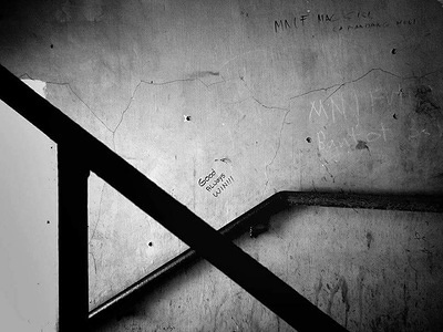 Despite of what the war has brought to the school grounds, a flare of hope was expressed through a writting on the wall.
