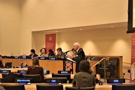 William Lacy Swing, Director General, International Organization for Migration delivering his opening remarks.