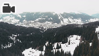 General drone footage of the French Alps.